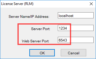 I see the RLM server requires TCP Ports 5053 & 5054 – Can